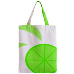 Fruit Lime Green Zipper Classic Tote Bag