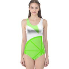 Fruit Lime Green One Piece Swimsuit