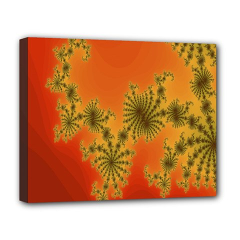Decorative Fractal Spiral Deluxe Canvas 20  X 16