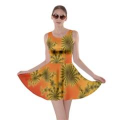 Decorative Fractal Spiral Skater Dress