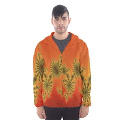 Decorative Fractal Spiral Hooded Wind Breaker (Men)