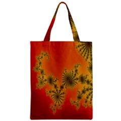 Decorative Fractal Spiral Zipper Classic Tote Bag