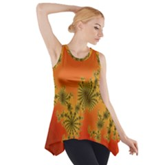 Decorative Fractal Spiral Side Drop Tank Tunic