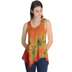 Decorative Fractal Spiral Sleeveless Tunic