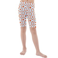Pattern Background Abstract Kids  Mid Length Swim Shorts