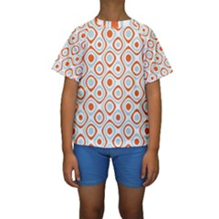 Pattern Background Abstract Kids  Short Sleeve Swimwear