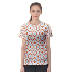 Pattern Background Abstract Women s Sport Mesh Tee
