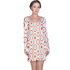 Pattern Background Abstract Long Sleeve Nightdress