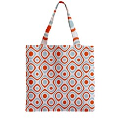 Pattern Background Abstract Zipper Grocery Tote Bag