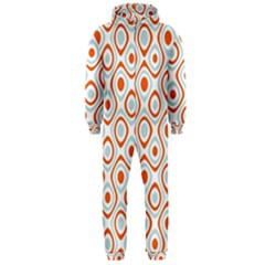 Pattern Background Abstract Hooded Jumpsuit (Men)