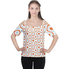 Pattern Background Abstract Women s Cutout Shoulder Tee