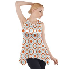 Pattern Background Abstract Side Drop Tank Tunic