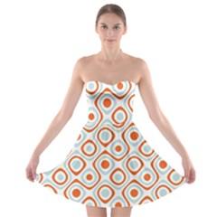 Pattern Background Abstract Strapless Bra Top Dress
