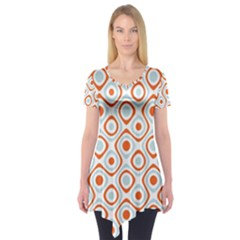 Pattern Background Abstract Short Sleeve Tunic
