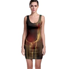 Fractal Image Sleeveless Bodycon Dress