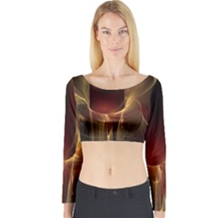 Fractal Image Long Sleeve Crop Top