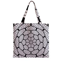 Grillage Zipper Grocery Tote Bag