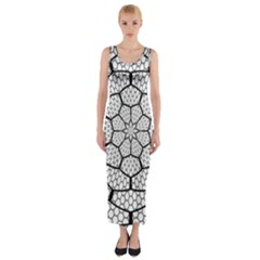 Grillage Fitted Maxi Dress