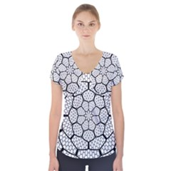 Grillage Short Sleeve Front Detail Top
