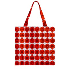 Icon Library Web Icons Internet Social Networks Grocery Tote Bag