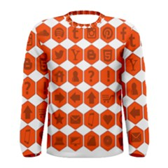 Icon Library Web Icons Internet Social Networks Men s Long Sleeve Tee