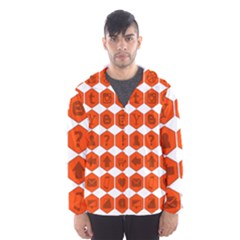 Icon Library Web Icons Internet Social Networks Hooded Wind Breaker (men)