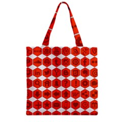 Icon Library Web Icons Internet Social Networks Zipper Grocery Tote Bag