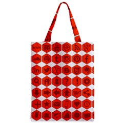 Icon Library Web Icons Internet Social Networks Zipper Classic Tote Bag