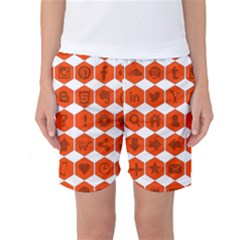 Icon Library Web Icons Internet Social Networks Women s Basketball Shorts