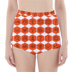 Icon Library Web Icons Internet Social Networks High-Waisted Bikini Bottoms
