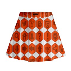 Icon Library Web Icons Internet Social Networks Mini Flare Skirt