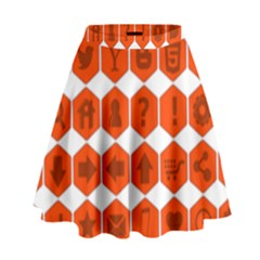Icon Library Web Icons Internet Social Networks High Waist Skirt
