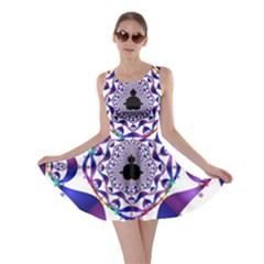 Ring Segments Skater Dress