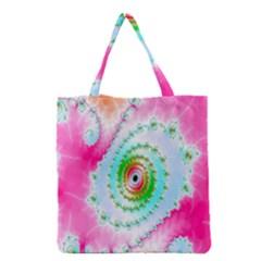 Decorative Fractal Spiral Grocery Tote Bag