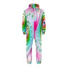 Decorative Fractal Spiral Hooded Jumpsuit (Kids)