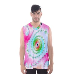 Decorative Fractal Spiral Men s Basketball Tank Top