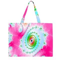 Decorative Fractal Spiral Large Tote Bag