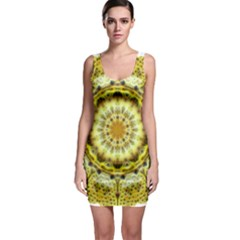 Fractal Flower Sleeveless Bodycon Dress