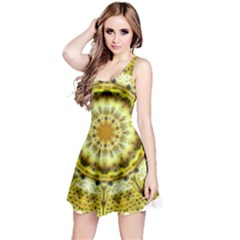 Fractal Flower Reversible Sleeveless Dress