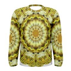 Fractal Flower Men s Long Sleeve Tee