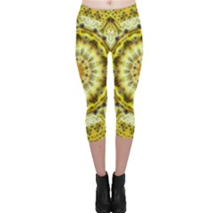 Fractal Flower Capri Leggings