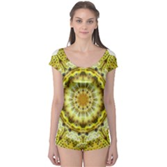 Fractal Flower Boyleg Leotard