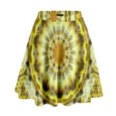 Fractal Flower High Waist Skirt