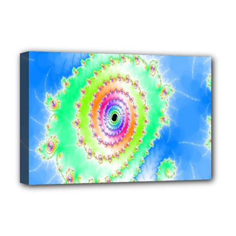 Decorative Fractal Spiral Deluxe Canvas 18  x 12