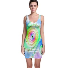 Decorative Fractal Spiral Sleeveless Bodycon Dress