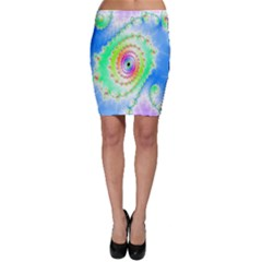 Decorative Fractal Spiral Bodycon Skirt