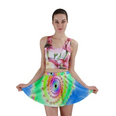 Decorative Fractal Spiral Mini Skirt