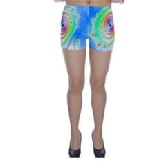 Decorative Fractal Spiral Skinny Shorts