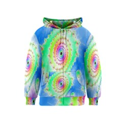Decorative Fractal Spiral Kids  Zipper Hoodie