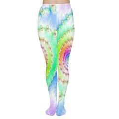 Decorative Fractal Spiral Women s Tights
